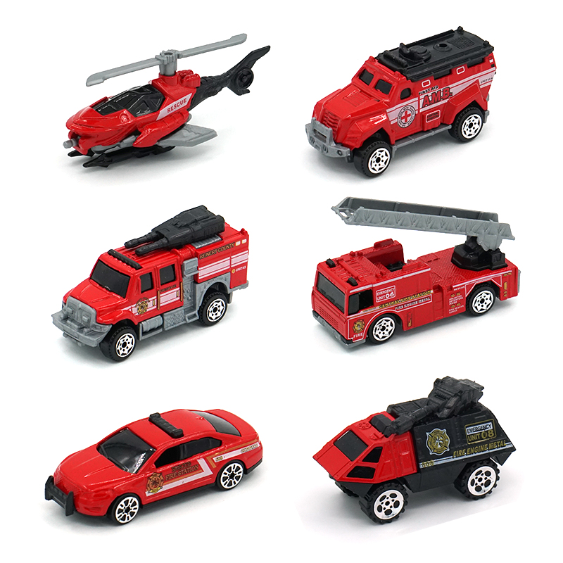 6PCS Set Mini Diecast Police Car Fire Engine Ambulance Armored Vehicle Model Metal toy Car Toy Model Alloy Toy Car Boys 39 Gifts in Diecasts amp Toy Vehicles from Toys amp Hobbies