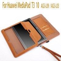 Yeni Kılıf Huawei MediaPad T3 10 Tablet Için Akıllı Manyetik uyku Durumlarda T3 9.6 inç için Onur Oyun Pedi 2 Kapak AGS-L09 AGS-L03 W09