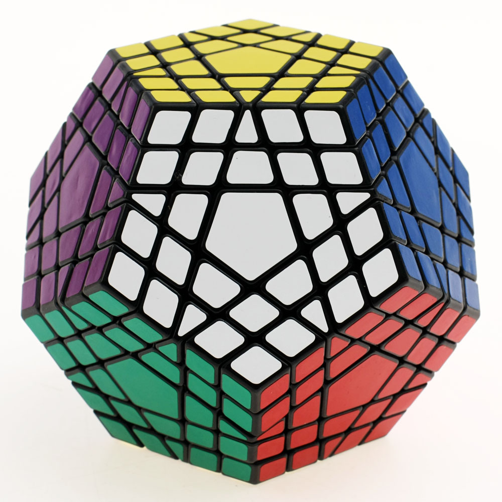 Shengshou 5x5 Gigaminx Magic Cube Puzzle Black And White Dodecahedron 5x5 Speed Cube Game Learning&Educational Cubo Magico Toys