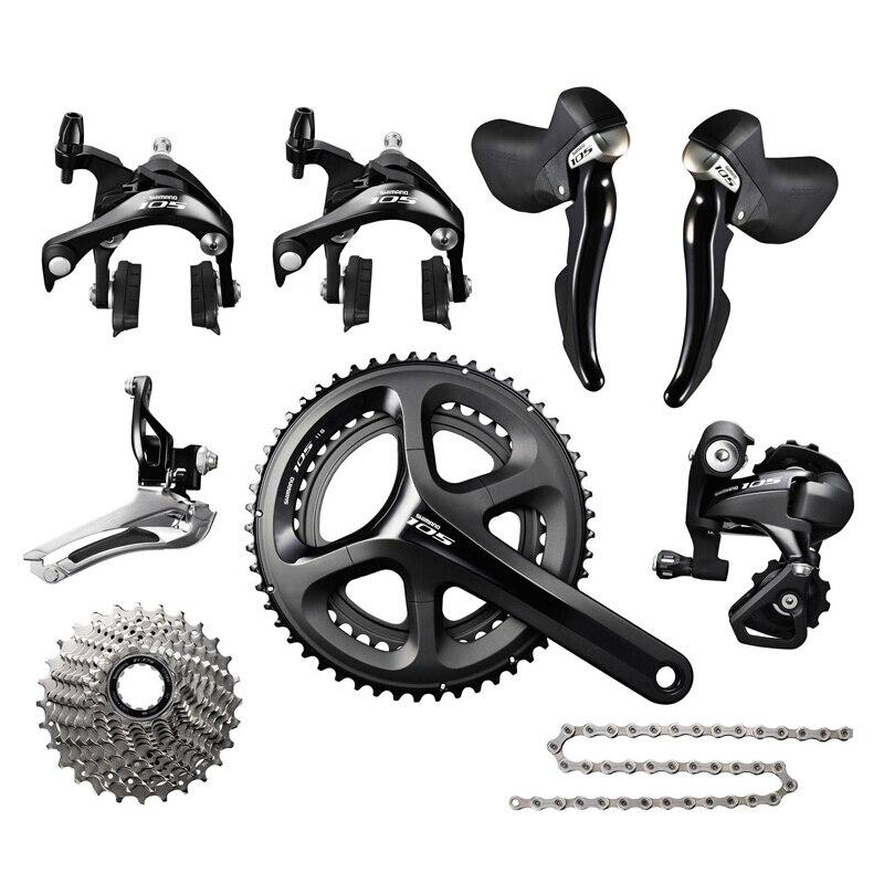 SHIMANO 105 5800 groupe de vélo de route 11 s groupe de vélo 170mm dérailleurs 5800 Kit de changement de vélo 50-34 T 52-36 T 53-39 T