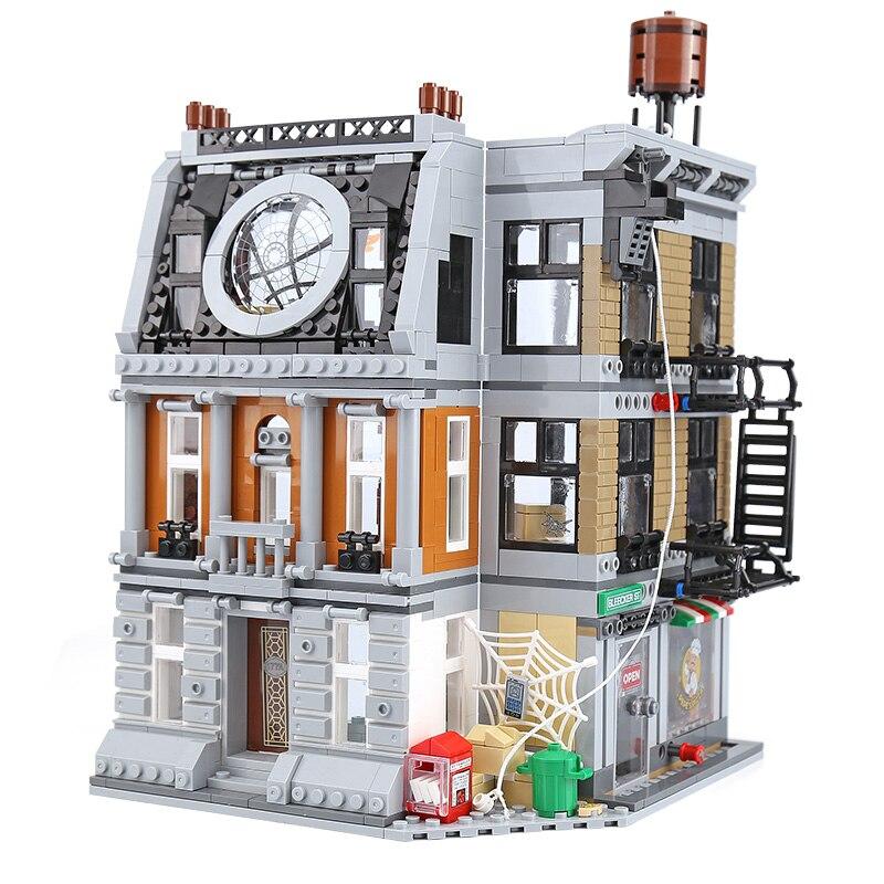 07107 Avengers Marveled Infinity War Super Sanctum Showdown Building Brick Block Toys Compatible with 76108