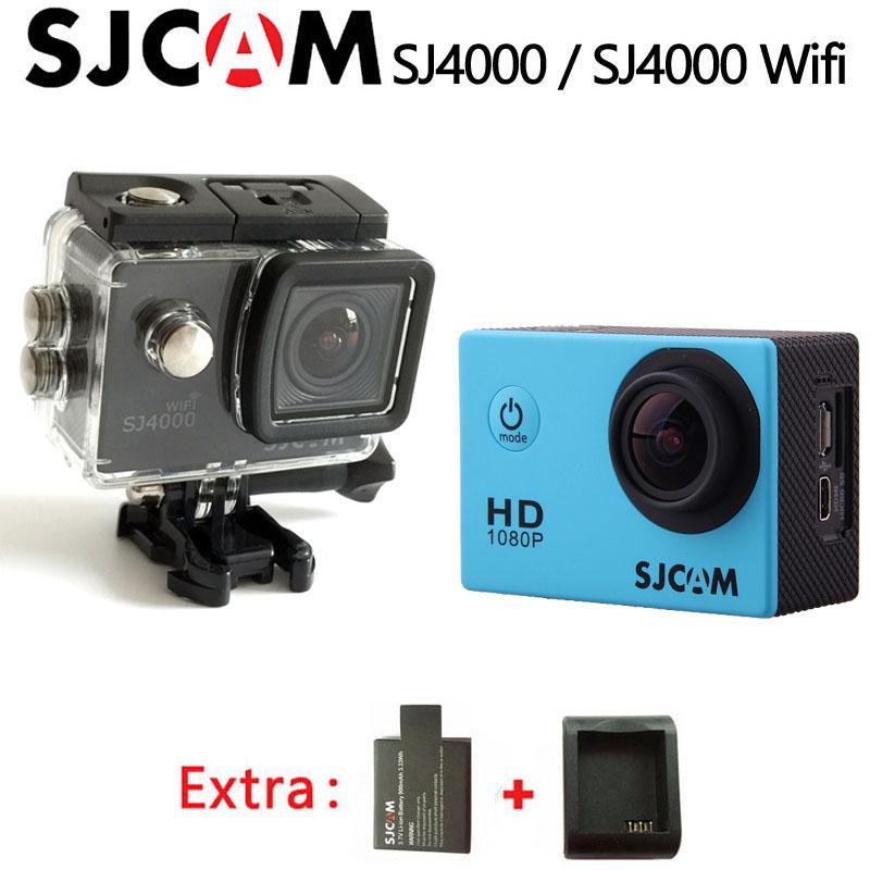 Prix pour D'origine sjcam sj4000 & sj4000 wifi sport action caméra 2.0 pouces 1080 P HD Étanche Caméscope sj cam Sous-Marine 30 m Sport DV