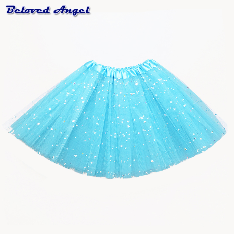 2-8Yrs Translucent Children Fluffy Pettiskirts Tutu Saias Baby Girls Skirts Princess Skirt Girls Ballet Dance Wear Party Clothes 3