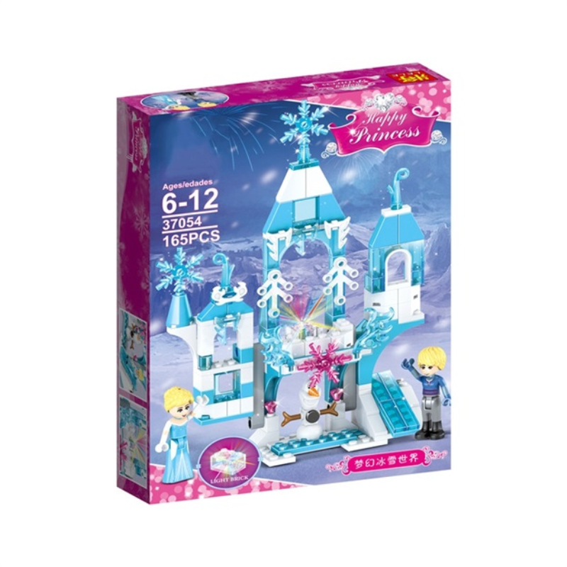 165pcs Dream Princess Castle Elsa Ice Castle Princess Anna Sets Model Building Blocks Gifts Toys Compatible With Friends Series