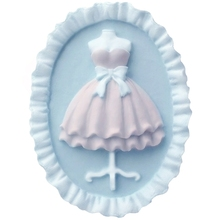Oval wedding dress lace skirt Craft silicone mold aromatherapy plaster tablet car gypsum pendent molds