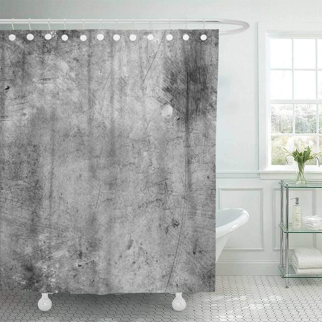 US 47 OFF Buy Shower Curtains Bathroom Curtain Gray Old Silver Metal Plate Steel Dirty Rustic Damaged Rough Vintage Shabby