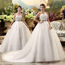 أبيض Hot البيع قطار ملكي 2019 فساتين زفاف فاخرة رومانسية مع ذيل مثير خمر الزفاف عالية الدانتيل فستان الزفاف