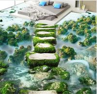 3d floor painting wallpaper Beach stones 3D floor photo wall murals wallpaper 3d flooring pvc floor wallpaper
