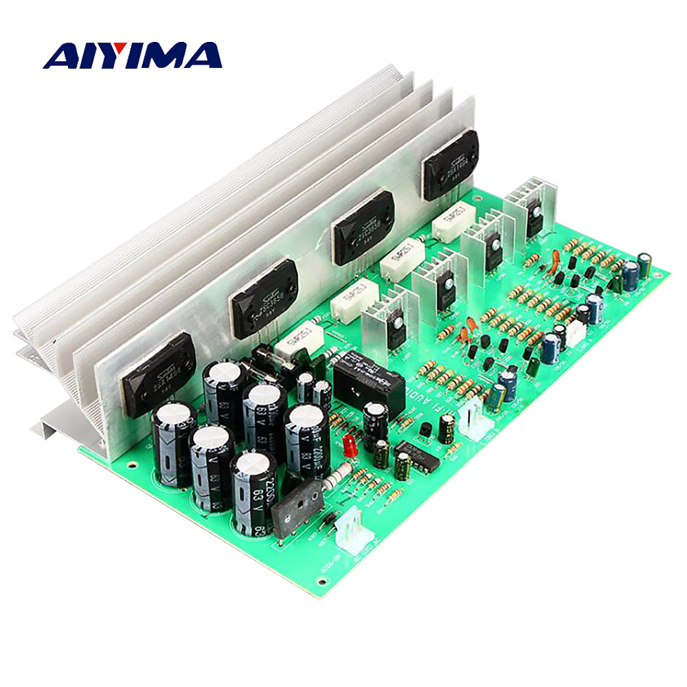 Aiyima 150W Audio Amplifier Board Amp Class B HIFI 2.0 Stereo Power Amplifier Board DIY Sound System Speaker Home Theater aiyima upc1237 speaker protection board dual channel power on delay dc protect module 11 26v for audio amplifier amp diy