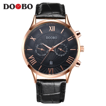 2017 Fashion Brand Casual Mens Watches DOOBO Men Watch Luxury Leather Business Quartz-Watch Wristwatch Relogio Masculino Ceasuri
