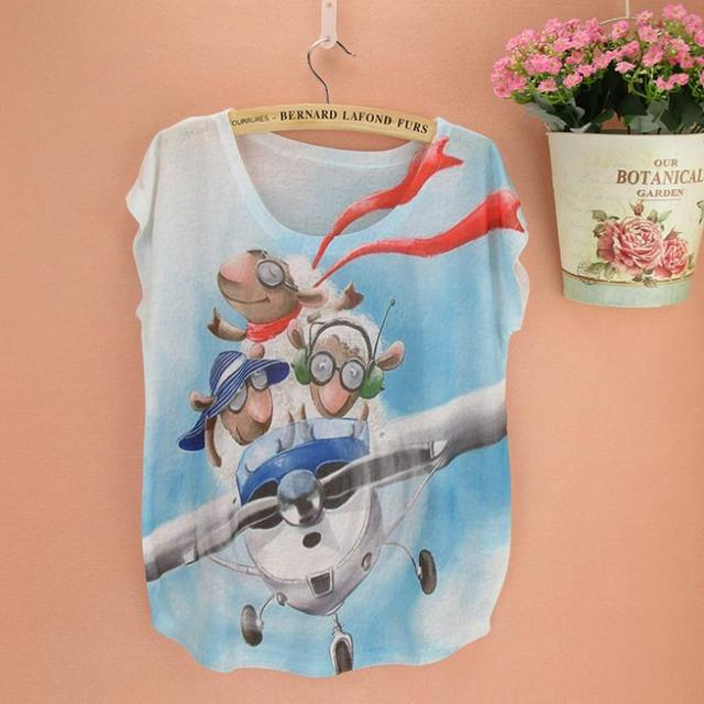 13fcaaa3b6f Popular cartoon character print culture t-shirt for girls   women plus size  top tees short sleeve O-neck cotton fabric clothing