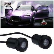 URUS 2PCs LED Car Door Welcome Light Laser Projector Logo For Lifan x60 Courtesy