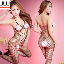 Sexy Lingerie Hot  Bodysuit Fishnet Stockings Intimates Women Bodystocking Plus Size Open Crotch Sex Erotic Body Porno