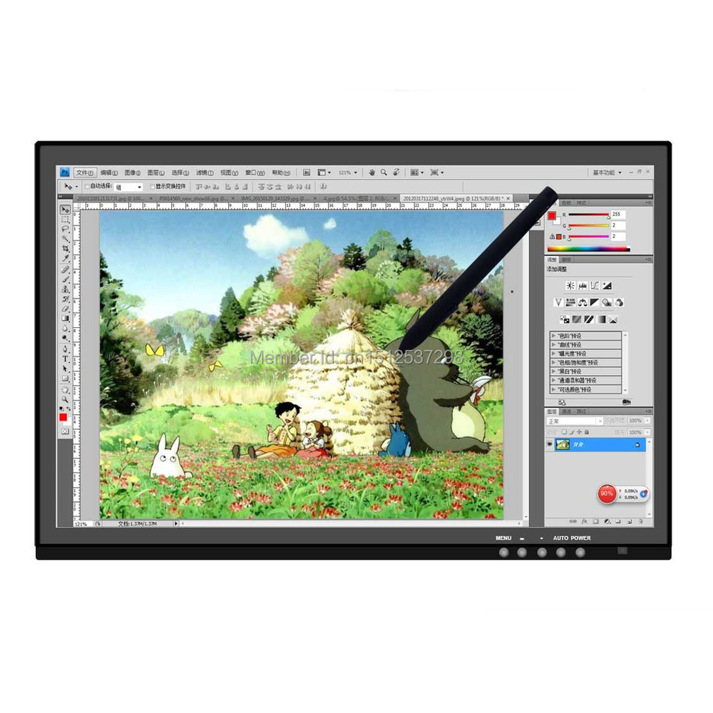 Huion GT 190 19 USB Digital Monitor Stift Tablet Monitor LCD Display Touchscreen 5080 LPI Professionelle Animation Zeichnung Bord - 2