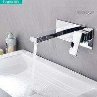 Hansnlin High Quality Fashion Design Bathroom Countertop Basin Mixer Faucet Brass Material Water Tap