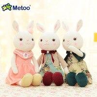 43 cm Metoo Królik Lalki Pluszowe Wypchanych Zwierząt Zabawki dla Dziewczynek Chłopców Dzieci Urodziny Christmas Gift Wysokiej Jakości Cute Bunny lalki