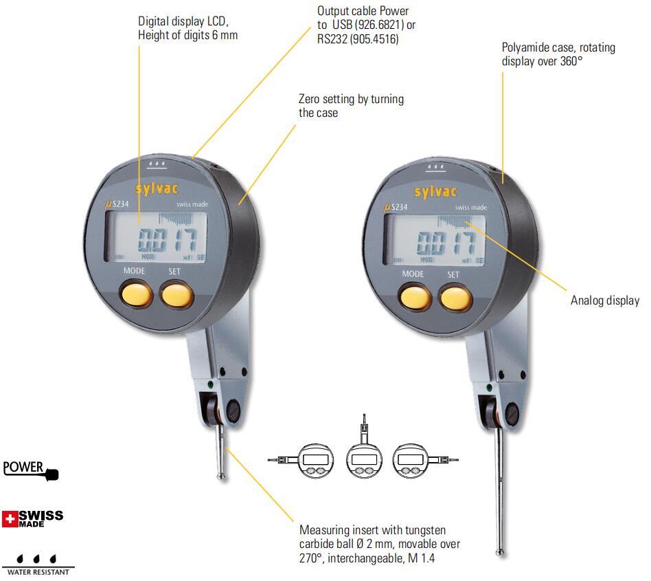 Mitutoyo Cadran Indicateur de test Horizontal DE Base tige de diam/ètre 8/mm DE type m/étrique
