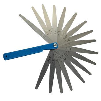 Nowy przyjazd 0 02mm do 1mm 17 ostrze grubość Gap metryczne wypełniacz Feeler Gauge narzędzie do pomiaru tanie i dobre opinie 65 # Mn Direct replacement of original parts 0inch Silniki 0 2kg 17 Blade 0 02 1
