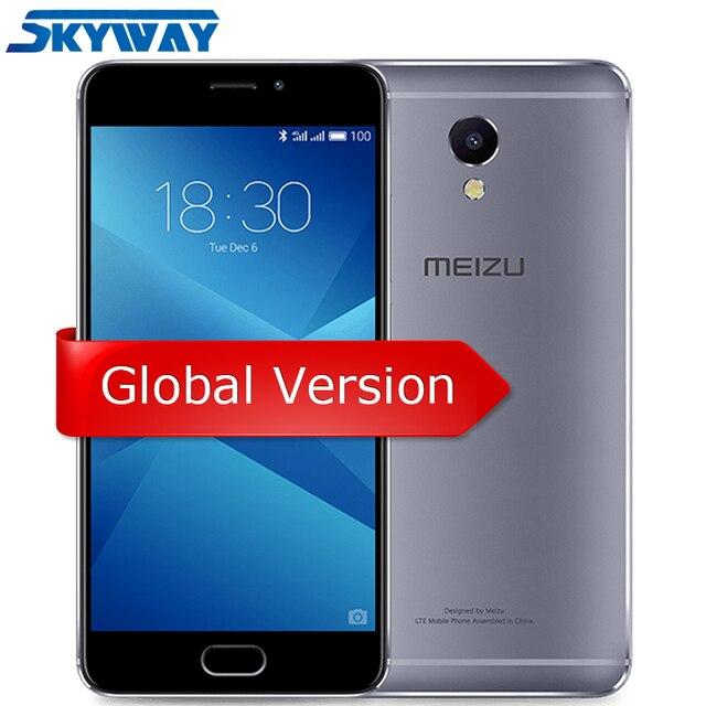 """Оригинал Meizu M5 Примечание Глобальный Версия Helio P10 Octa Core сотовый телефон 3 GB 16 GB 5,5 """"1920x1080 13.0MP отпечатков пальцев 4000 mAh"""