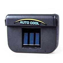 1 W Energía Solar Ventana Ventilador Ventilador Auto Cool Air Vent Para Vehículo Negro