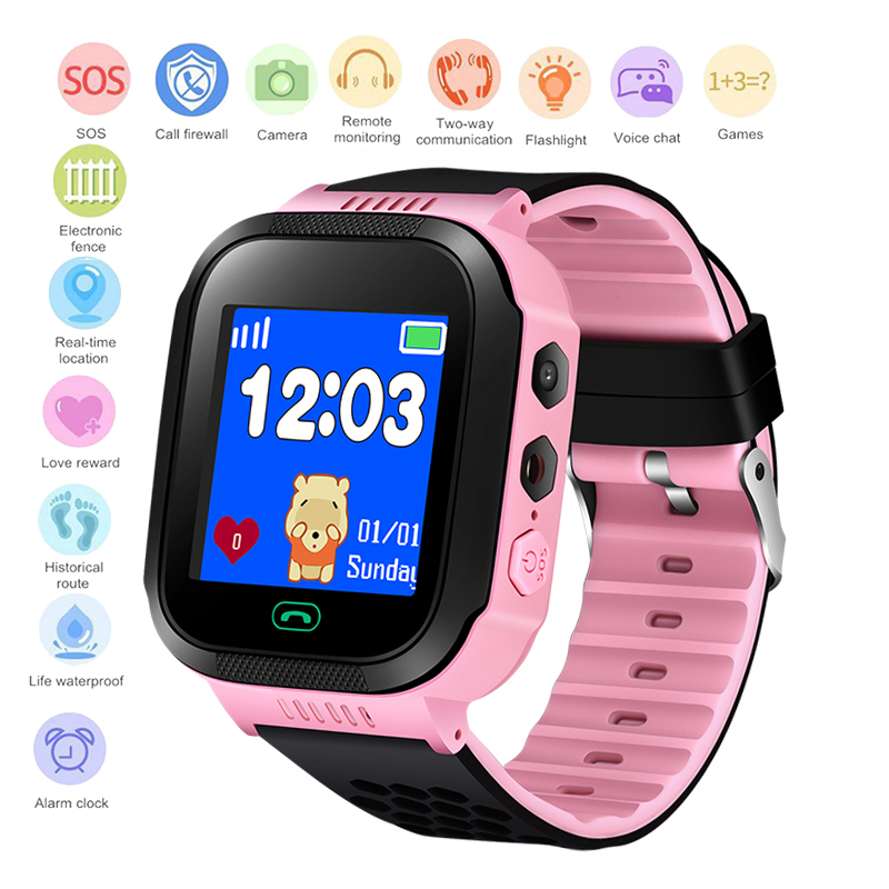 LIGE Children Smart Watch Connection APP Can Locate SOS Security Call Camera With Flashlight Real Kid watch