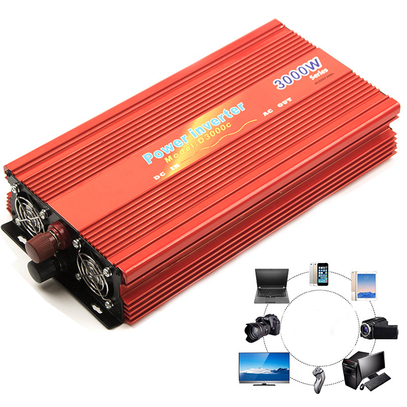 цена на 4000W 2000W Modified Sine Wave Car Inverter DC 24V 12V to AC 220V Power Portable Electronic Home Charge Supply Converter For Car
