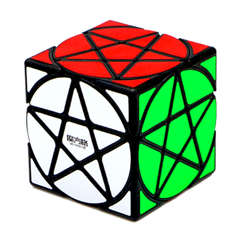 Qiyi Cube Mofangge Pentacle Magic Black Stickerless Speed Puzzle Star Twist Cubes Toys For Children Kids Gift