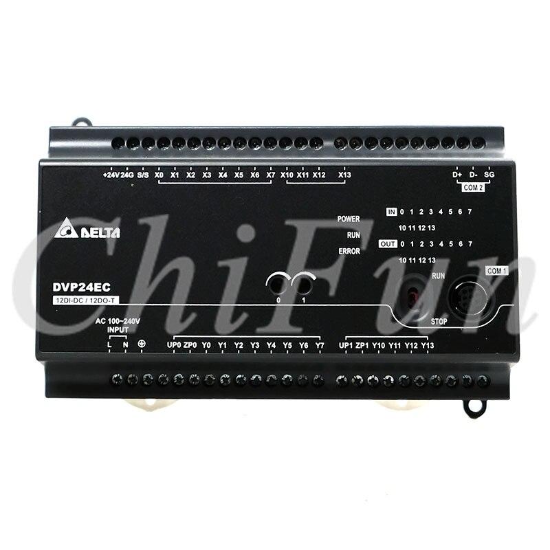 Original Delta EC2 host DVP24EC00R3 PLC controller 100 240VAC 12DI 12DO relay output in box