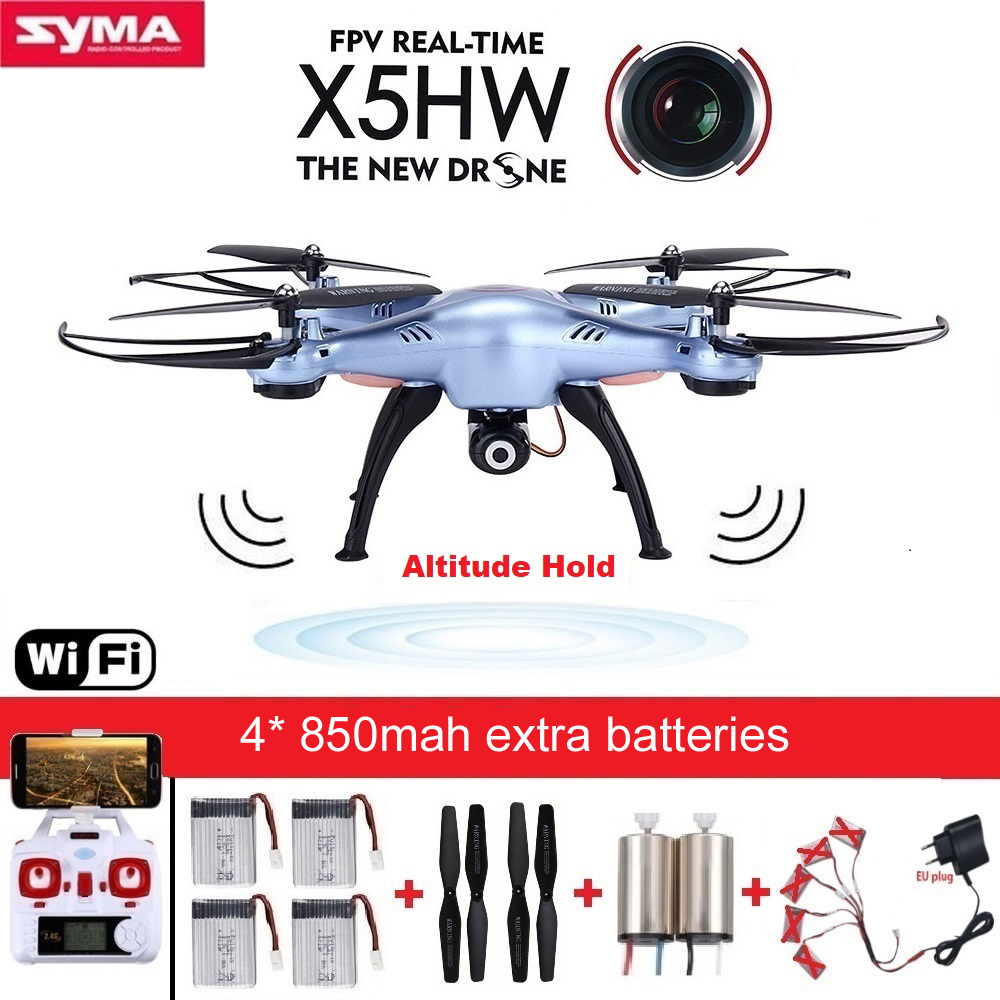 SYMA X5HW RC Drone with Camera Wifi FPV HD Real-time 2.4G CH RC Helicopter Quadcopter RC Dron Toy X5SW Upgrade