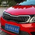 Автомобильная Передняя решетка крышки ABS Материал Тигр Гонки Грили продукты аксессуары Подходит для KIA Rio K2 2012-2014 Z2AAA067