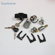 Soarhorse зажигания автомобиля + перчатки коробка + запасное колесо + замок цилиндра и набор ключей для Mitsubishi Pajero montero MK2 2nd V32 4G54