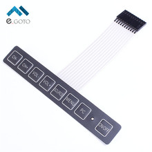 1x8 Matrix Array 8 Key Membrane Switch Keypad Keyboard 1*8 With LED Display Switch Control Panel For DIY