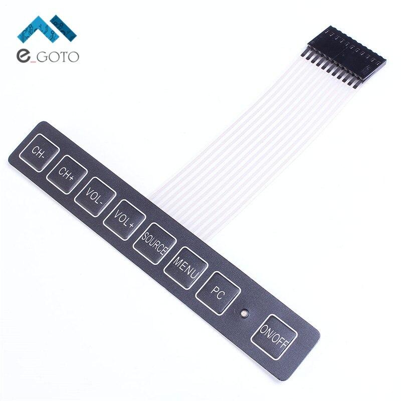 1x8 Matrix Array 8 Key Membrane Switch Keypad Keyboard 1 8 With LED Display Switch Control