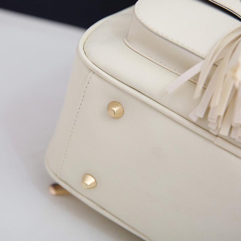 Backpack Female 3 Piece Combination Composite Bag Bear Hanging Inlaid Imitation Diamond Tassel Fashion Casual Shoulder Bag 66