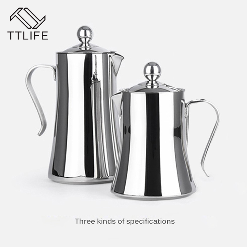 TTLIFE 1L 1 2L 304 Stainless Steel Delicate Moka Coffee Maker French style Latte Coffee Tea