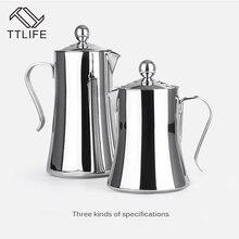 TTLIFE 1L/1.2L 304 Edelstahl Empfindliche Moka Kaffeemaschine Französisch stil Latte Kaffee Teekanne mit Filter