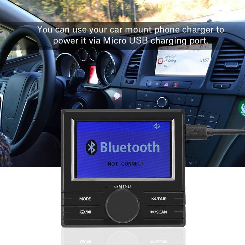 VBESTLIFE Digital DAB Radio Receiver TF Card DAB with FM Transmitter Function USB Charger Bluetooth Handsfree
