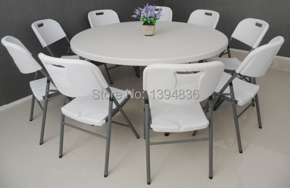 Aliexpress.com : Buy 10 Person used 5ft plastic round table from ...