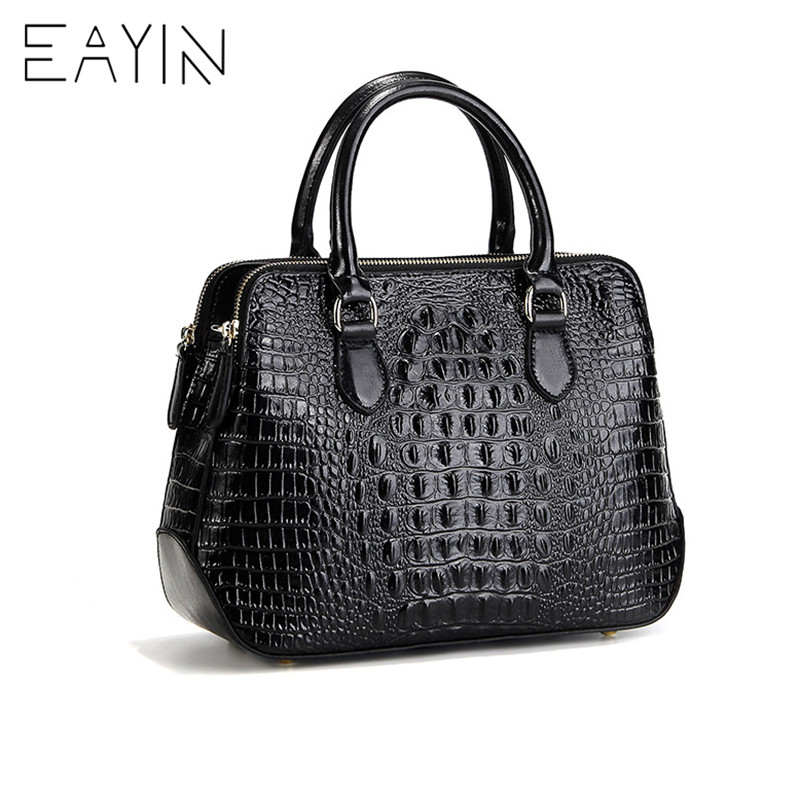 EAYIN Luxury Famous Designer Handbags Crocodile Pattern Genuine Leather Bag Women Shoulder Messenger Bags High Quality Hand Bag