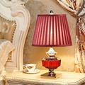 3 Colors Modern Chinese Fashion Crystal Glass Fabric Led E27 Table Lamp for Wedding Decor Living Room Bedroom AC 80-265V 1310