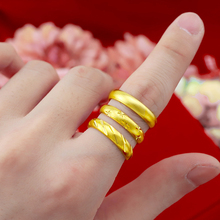 Pure Gold Color Rings for Women Engagement Ring Adjustable Anel Wedding Bands Fine Bridal Jewelry Accessories Bague Femme Gifts meaeguet gold color luxury paved crystal engagement ring for women stainless steel big statement ring jewelry bague femme