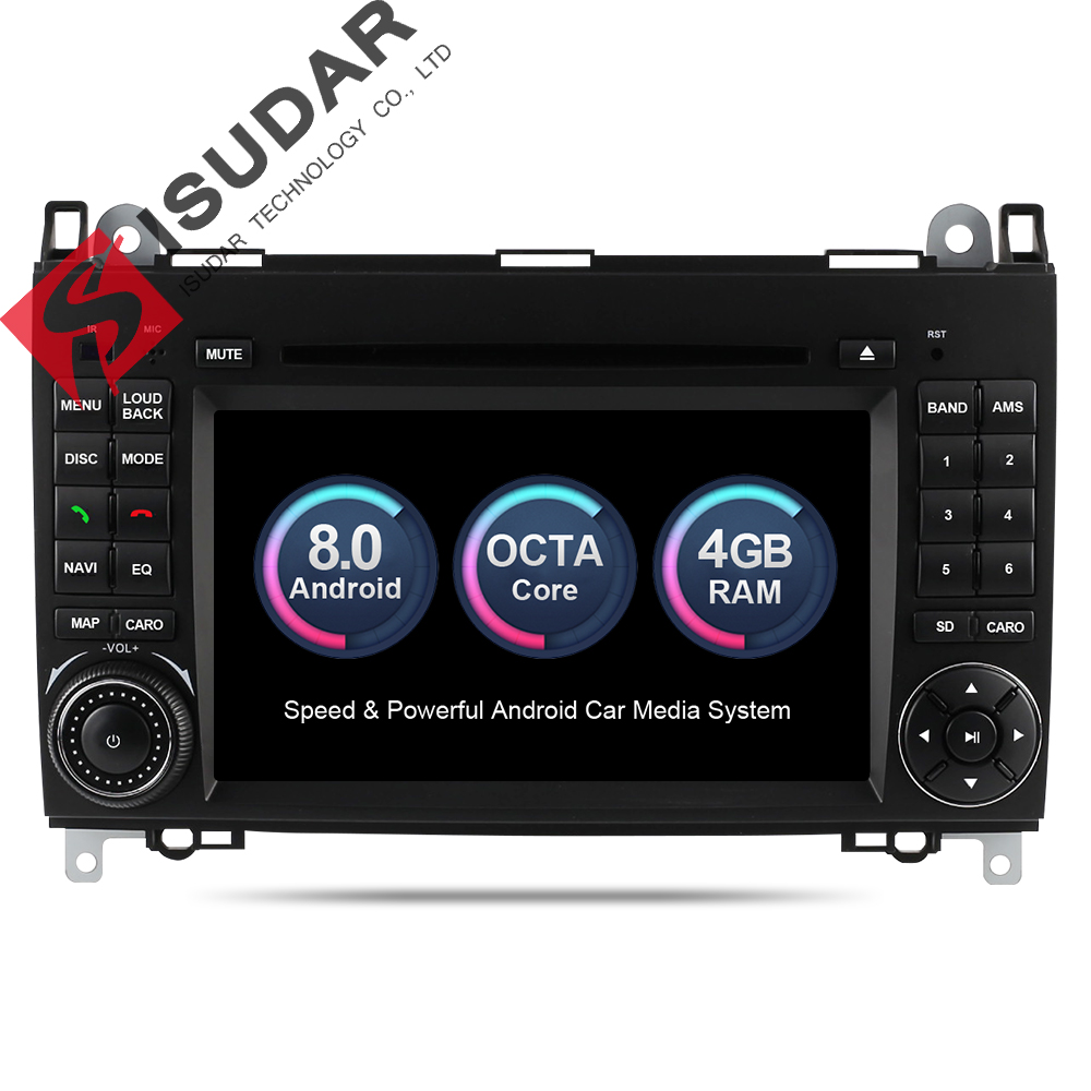 Isudar Car Multimedia Player 2 din Car Radio GPS Android 8.0 Stereo System For Mercedes/Benz/Sprinter/W169/B200/B-class DSP OBD2 carmonitor player autoradio for mercedes benz b200 sprinter w209 w169 b200 a class w169 b class w245 b170 multimedia gps radiofm