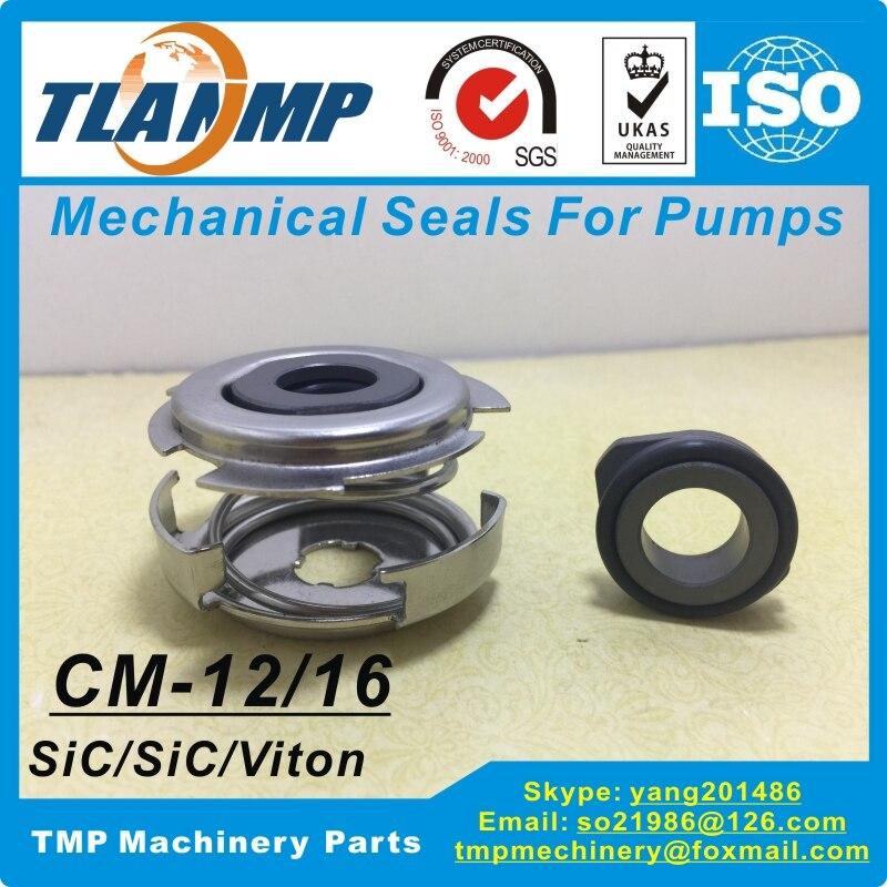 CM-16 CM16 sello mecánico para el tamaño del eje 16mm bombas horizontales tipo CM10/15/25 (Material: SiC/VETA)