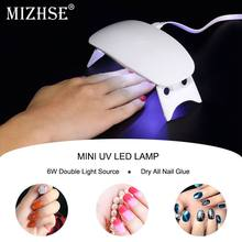 MIZHSE USB 6W LED Drying Curing Gel Polish Tool 30s 60s UV Nail Dryers Nail Art Machine Light Lamp Manicure Machine(China)