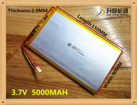 Free Shipping Polymer Lithium Battery 7 8 9 Inch Tablet PC ICOO 3 7V Lithiumion With