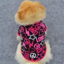 Pet Clothes Small Pup Dog Gem Print T-shirt