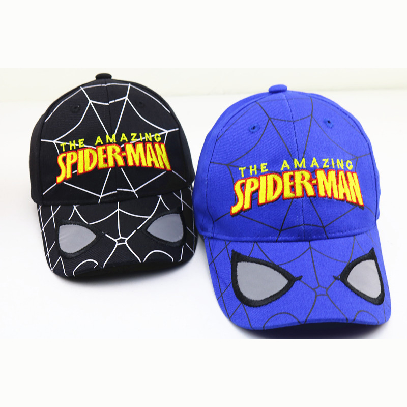 Fashion Children Boys Girls Hats The Amazing Spider-man Cosplay Costume Baseball Cap Snapback Hip-hop Sun Hat 48-53cm head size