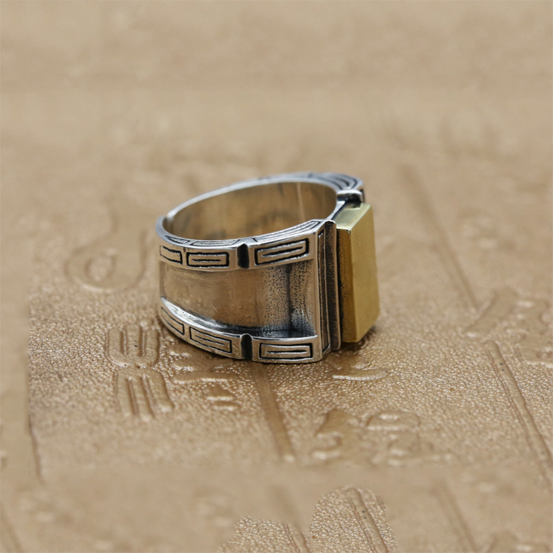 Image 4 - Opening Ring 100% Real 925 Sterling Silver Jewelry For Men Women Creativity Vintage Adjustable Ring  New Arrival FR105-in Rings from Jewelry & Accessories