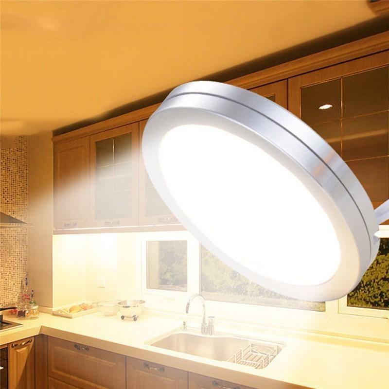 LED Cabinet Light Shelf Showcase Cupboard Closet Lamp Kitchen Showcase Puck Downlight Wardrobe Night Counter Lighting Lamps EYOYO