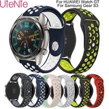 22mm For samsung gear s3 frontier/Classic watch strap HUAWEI Watch GT Strap Samsung Galaxy 46mm smart wristband